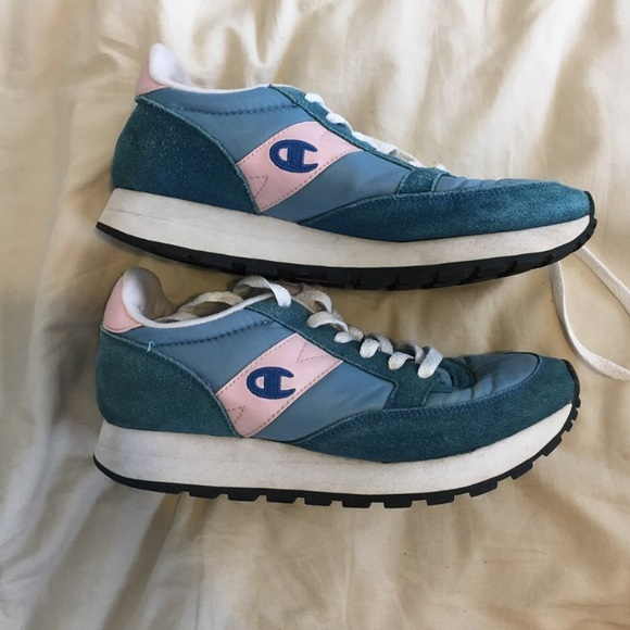 Champion Shoes   Pink And Blue Sneakers